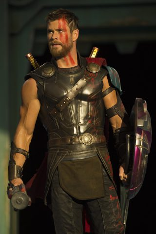 Photo tournage du film Thor 3 Ragnarok Chris Hemsworth