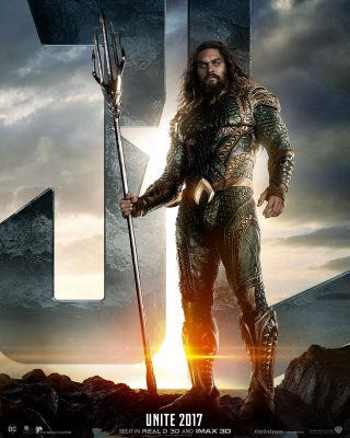 Affiche du film Justice League personnage Aquaman (version USA)