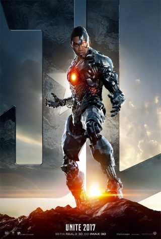 Affiche du film Justice League personnage Cyborg (version USA)