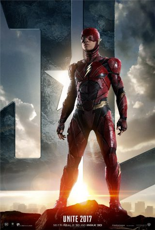 Affiche du film Justice League personnage Flash (version USA)