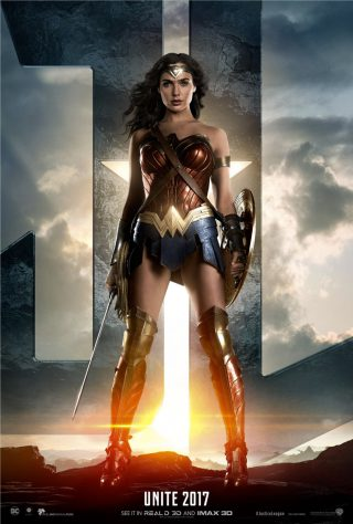 Affiche du film Justice League personnage Wonder Woman (version USA)