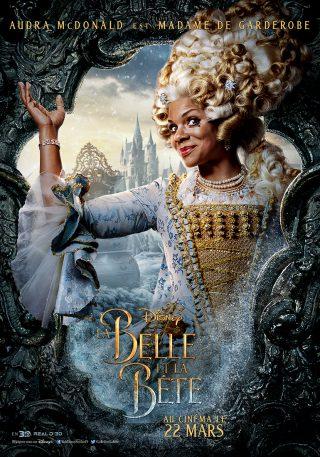 Affiche du film La Belle et la Bête Personnage Madame De Garderobe