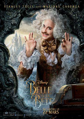 Affiche du film La Belle et la Bête Personnage Maestro Cadenza