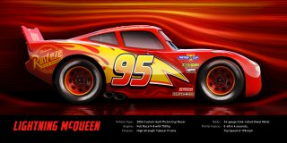 CARS 3 Photo personnage Flash Mc Queen